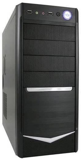 Midi-tower PC-behuizing LC-Power ATX 7024B incl. LC420H-12 V Zwart