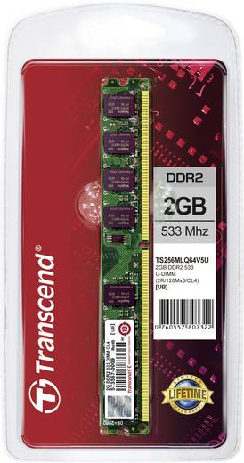Transcend TS256MLQ64V5U 2 GB DDR2-RAM PC-werkgeheugen module 533 MHz 1 x 2 GB