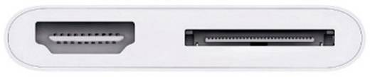 Apple iPad/iPhone Adapter [1x Apple dock-stekker - 1x Apple dock-bus, HDMI-bus] 0.10 m