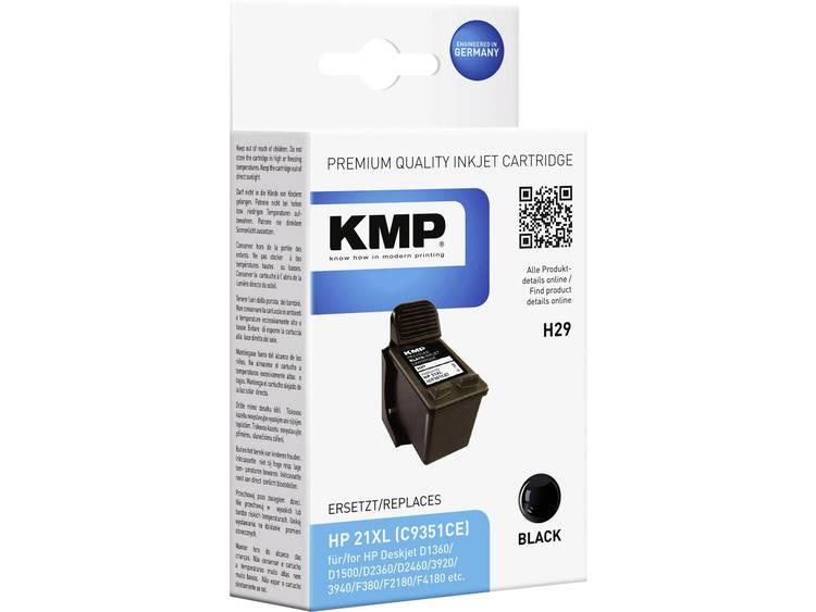 KMP Inkt vervangt HP 21 Compatibel Zwart H29 19004211