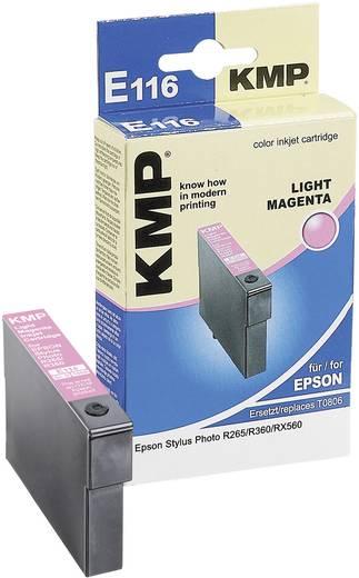 KMP Inkt vervangt Epson T0806 Compatibel Lichtmagenta E116 1608,0046