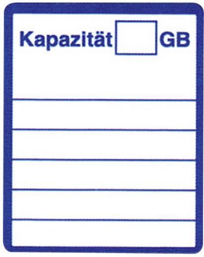 Etiketten voor SD-kaarten Handschriften 881400 20 x 25 mm Wit, Blauw Permanent 48 stuks