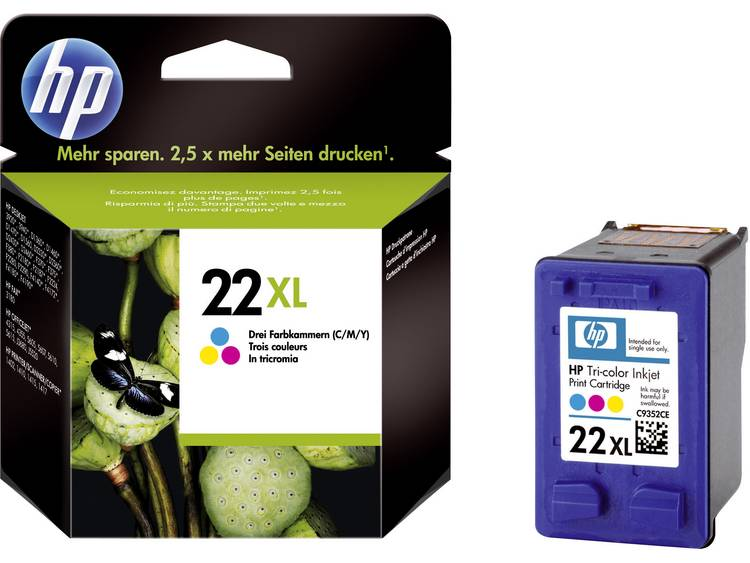 HP Cartridge 22XL Cyaan Magenta Geel