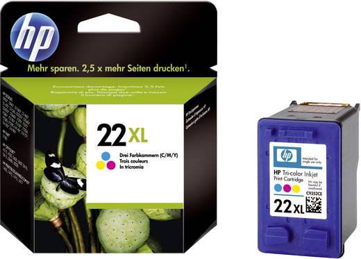 HP Cartridge 22XL Cyaan, Magenta, Geel
