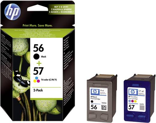 HP Inkt 56, 57 Origineel Combipack Zwart, Cyaan, Magenta, Geel SA342AE