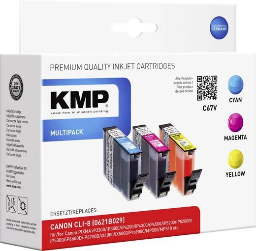 KMP Inkt vervangt Canon CLI-8 Compatibel Combipack Cyaan, Magenta, Geel C67V 1505,0005