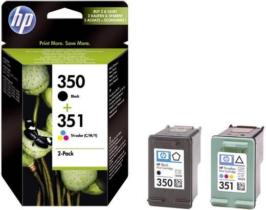 HP Cartridge multipack 350, 351 Zwart, Cyaan, Magenta, Geel