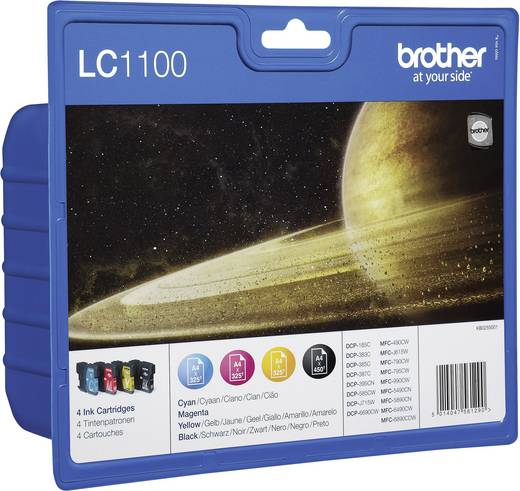 Brother Cartridge multipack LC-1100 Zwart, Cyaan, Magenta, Geel