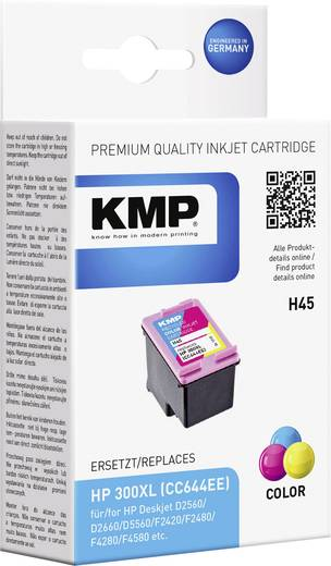 KMP Inkt vervangt HP 300, 300XL Compatibel Cyaan, Magenta, Geel H45 1710,4440