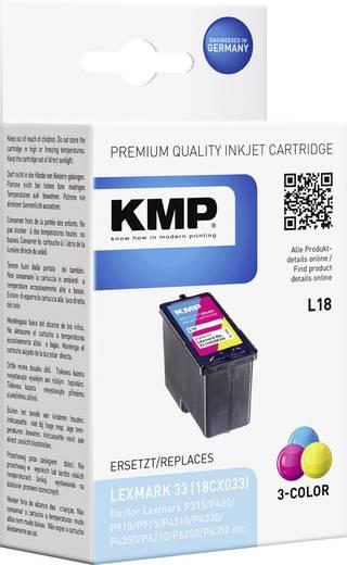 KMP Inkt vervangt Lexmark 33 Compatibel Cyaan, Magenta, Geel L18 1018,4330