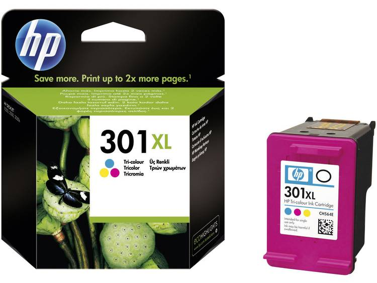 HP Cartridge 301XL Cyaan, Magenta, Geel