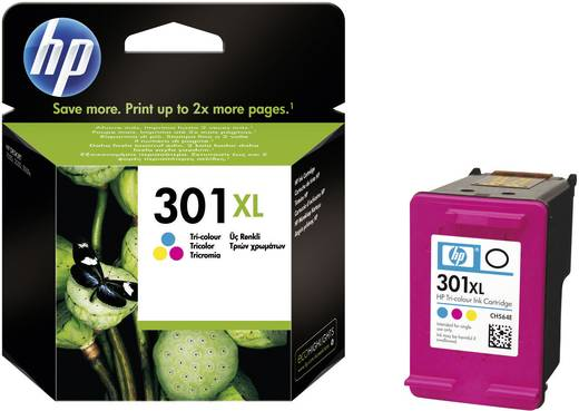 HP Cartridge 301XL Cyaan, Magenta, Geel