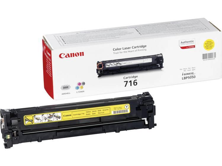 Canon Tonercassette 716 Y 1977B002 Origineel Geel 1500 bladzijden