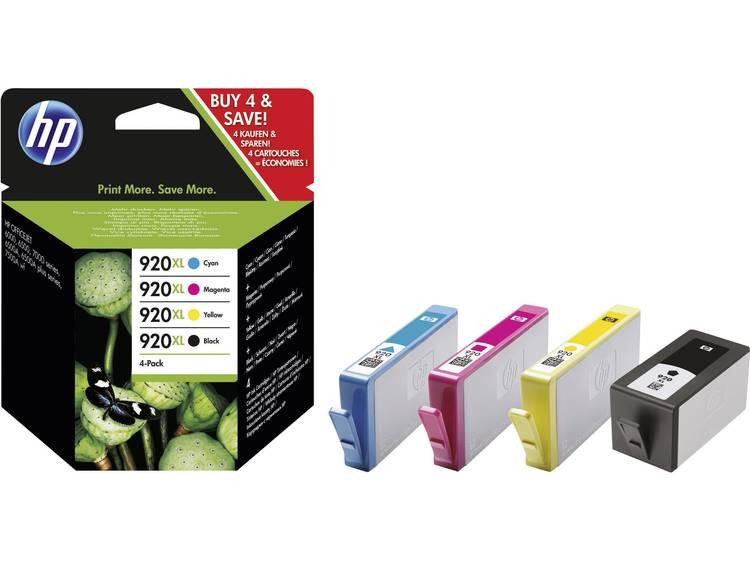 HP Cartridge multipack 920XL Zwart, Cyaan, Magenta, Geel