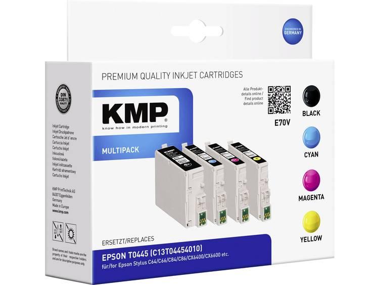 KMP Inkt vervangt Epson T0441, T0442, T0443, T0444 Compatibel Combipack Zwart, Cyaan, Magenta, Geel E70V 1005,0050