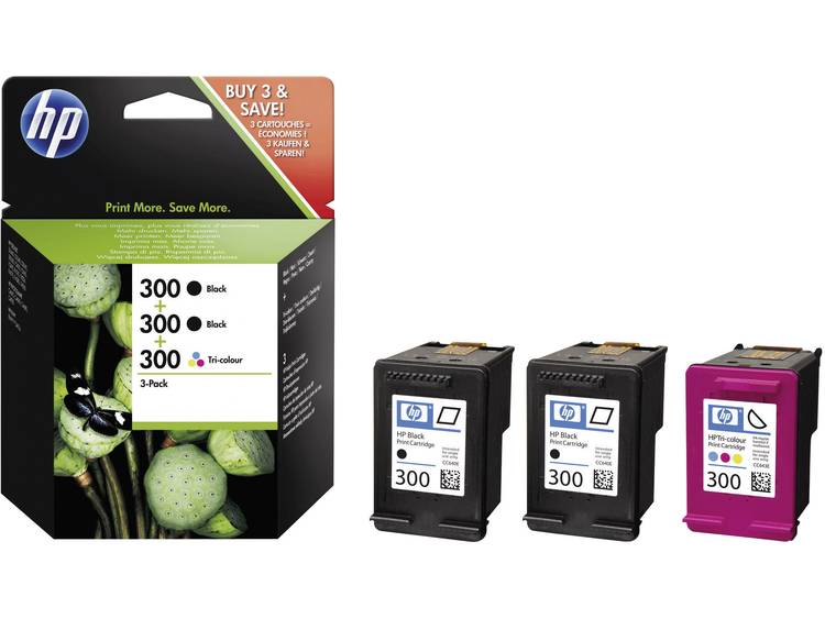 HP Inkt 300 Origineel Combipack Zwart, Cyaan, Magenta, Geel SD518AE