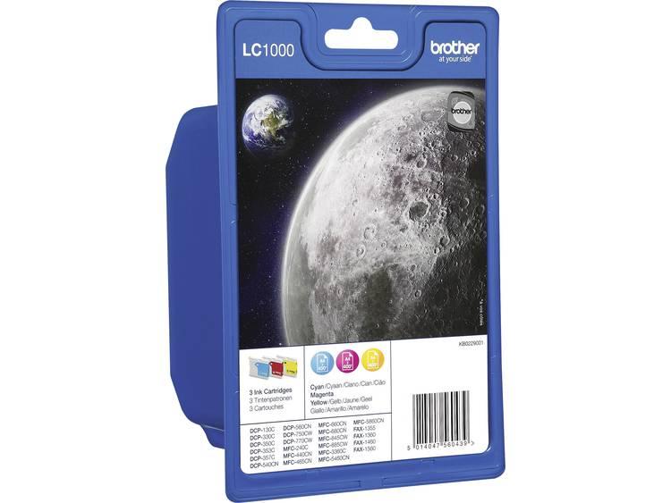 Brother Cartridge multipack LC-1000 Cyaan, Magenta, Geel