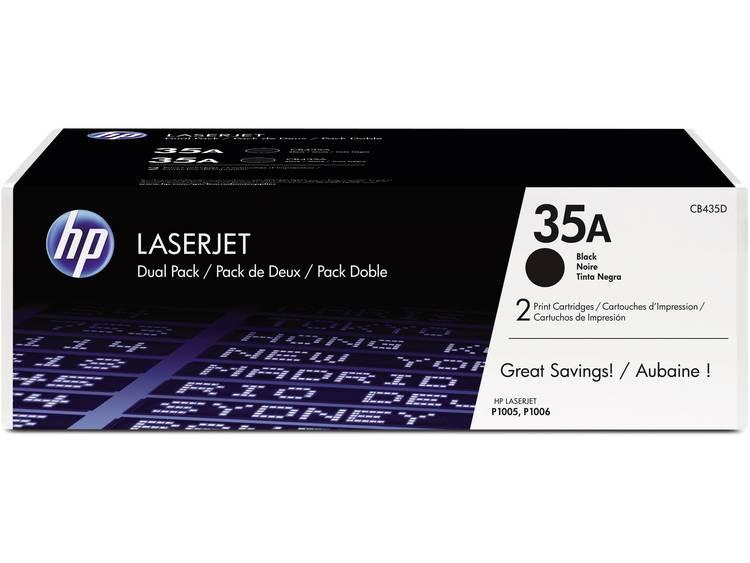 HP 35A CB435AD Tonercassette 2 pack Zwart 1500 bladzijden Origineel Tonercassett
