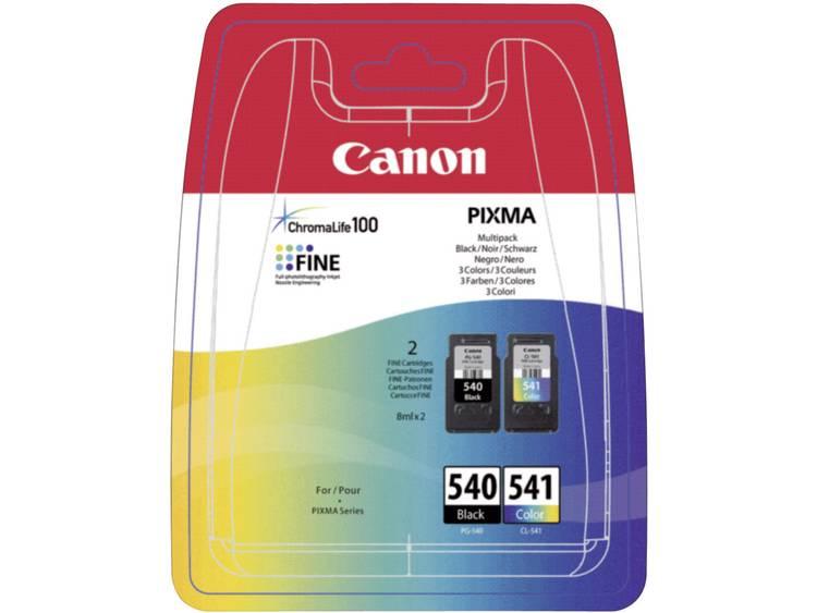 Canon Inkt PG-540, CL-541 Origineel Combipack Zwart, Cyaan, Magenta, Geel 5225B006