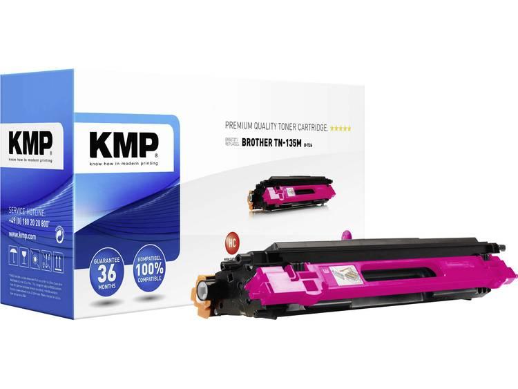 KMP Tonercassette vervangt Brother TN 135 TN135M Compatibel Magenta 4000 bladzi