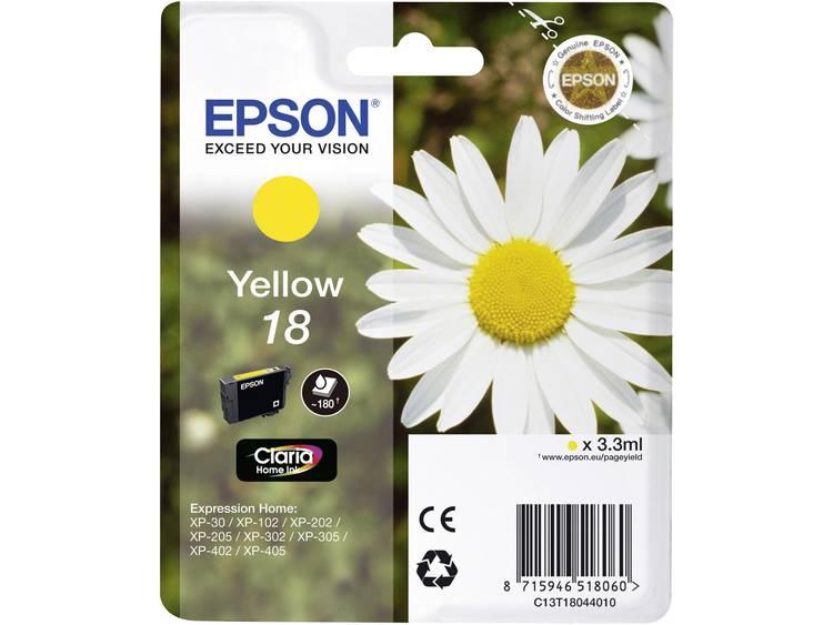 Epson Inkt T1804, 18 Origineel Geel C13T18044010
