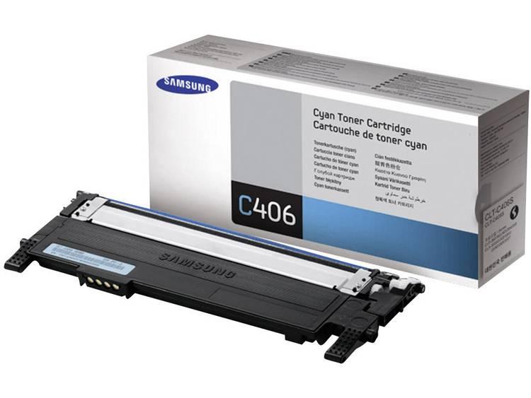 Samsung Tonercassette CLT C406S ST984A Origineel Cyaan 1000 bladzijden