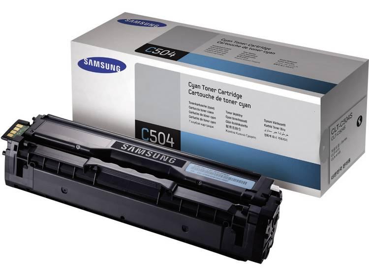 Samsung Tonercassette CLT C504S SU025A Origineel Cyaan 1800 bladzijden