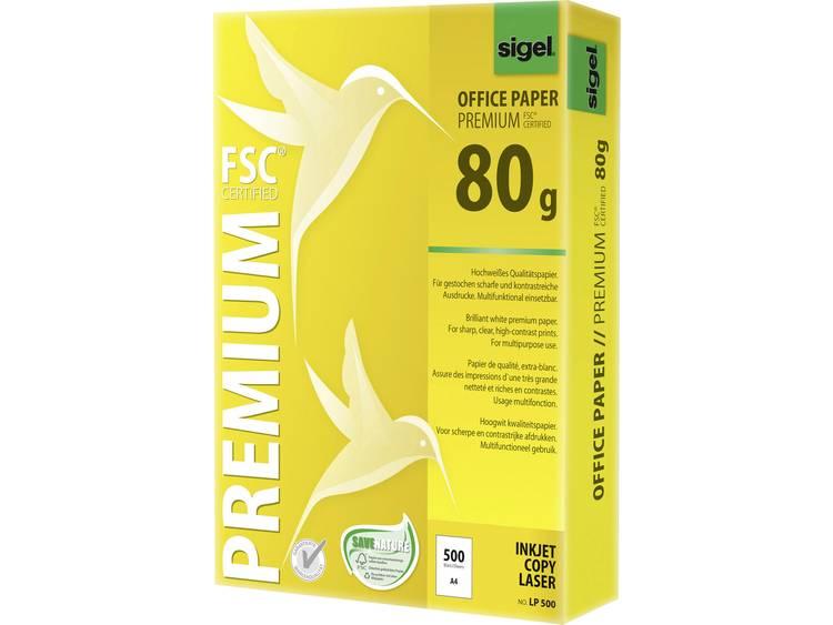 Printpapier Sigel Office Paper PREMIUM LP500 DIN A4 80 g/m² 500 vellen Wit