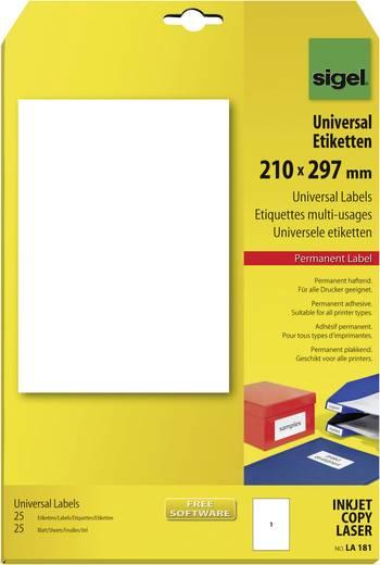 Universele etiketten, LA181 / / 25 stuks N/A, geschikt voor Inkjet, laser, kopie