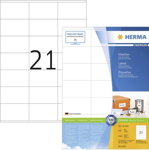 Herma 4451, Universele etiketten Premium,, Wit, 2100 stuks