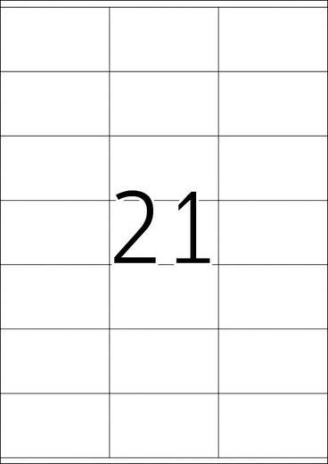 Herma 4451, Étiquettes universelles Premium,, Wit, 2100 stuks