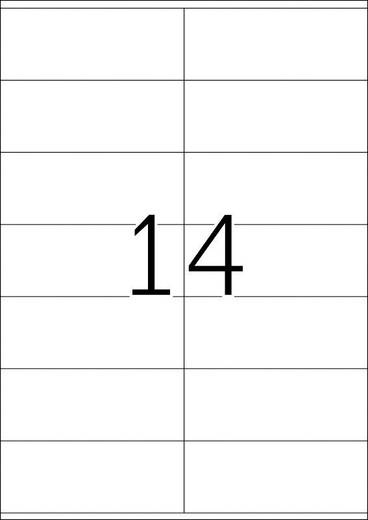 Herma 4452, Universele etiketten Premium,, Wit, 1400 stuks