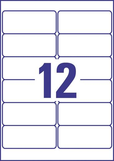 Avery-Zweckform Adresetiketten J8177-25 ( ),Wit, Rechthoek, Afgeronde hoeken, 300 stuks, Permanent