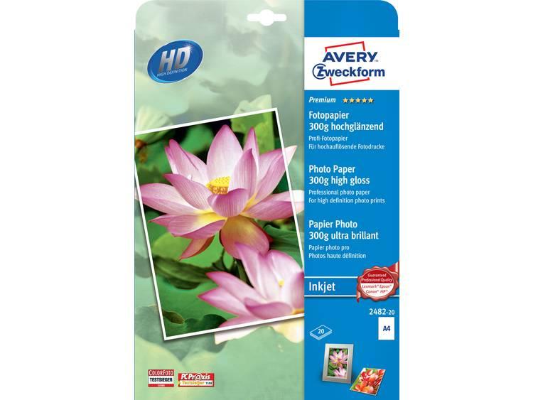 Avery-Zweckform Premium Photo Paper Inkjet 2482-20 Fotopapier DIN A4 300 g/m² 20 vellen Hoogglans