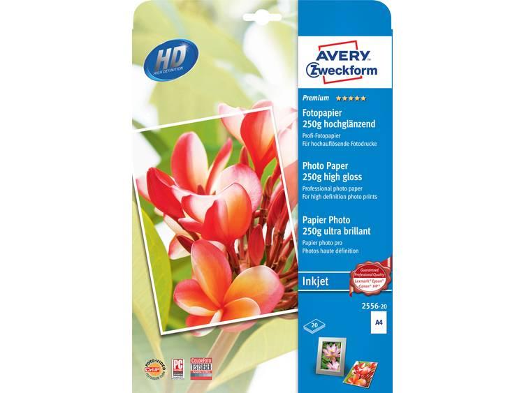 Avery-Zweckform Premium Photo Paper Inkjet 2556-20 Fotopapier DIN A4 250 g/m² 20 vellen Hoogglans