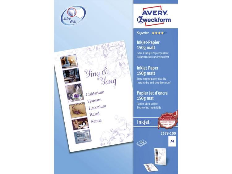 Avery Zweckform Superior Inkjet Paper Inkjet printpapier DIN A4 150 g m² 100 ve