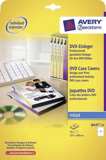 DVD box inserts Avery-Zweckform J8437-25 273 x 183 mm Speciaal gecoat Inkt 25 stuks Wit