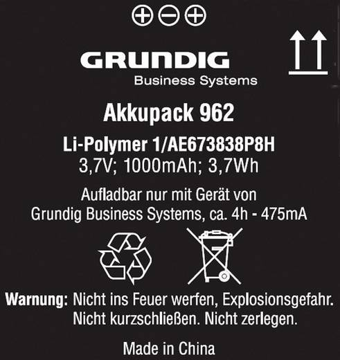 Accessoires voor digitale apparaten Grundig Business Systems Digta accupack 962 GCM9620