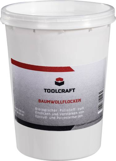 TOOLCRAFT Katoenvlokken 886566 500 ml