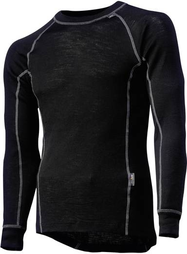 Helly Hansen 75016 Functioneel shirt lang Kastrup Crewneck Black Maat=M Zwart