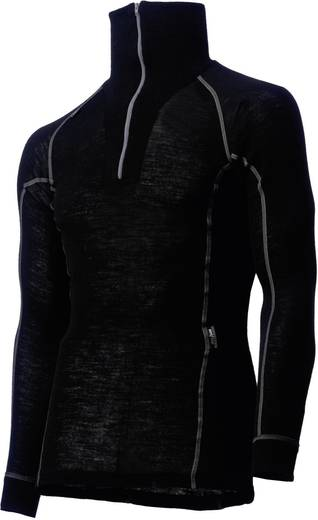 Helly Hansen 75017 Functioneel polohemd met ritssluiting en lange mouwen Maat=M Zwart