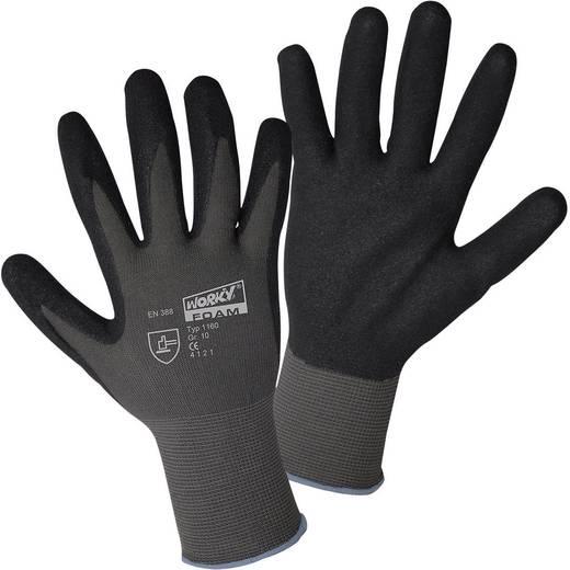 worky 1160 Fijngebreide handschoen FOAM-Sandy nitril 100% polyamide met nitrillaag Maat (handschoen): 7, S