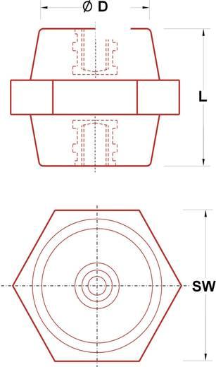 Isolatiesteunen (l) 25 mm M6 Polyester glasgevuld ISS-625 1 stuks