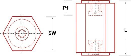 Isolatiesteunen (l) 25 mm M6 Polyester glasgevuld IS20HH625 1 stuks