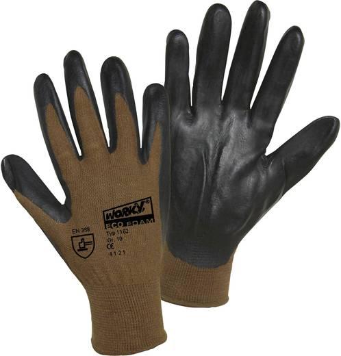 worky 1162 Fijn gebreide handschoen ECO nitrilschuim 70% bamboe 30% katoen Maat (handschoen): 9, L