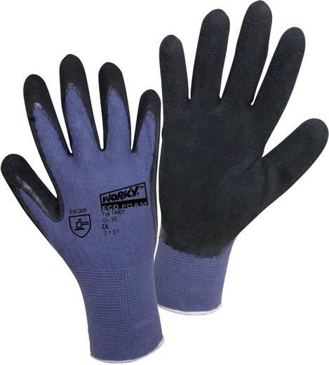 worky 14901 Fijn gebreide handschoen ECO LATEX FOAM 70% bamboe 30% katoen Maat 8