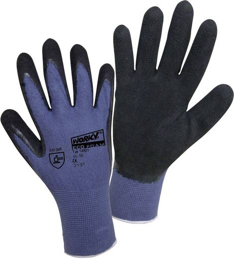 worky 14901 Fijn gebreide handschoen ECO LATEX FOAM 70% bamboe 30% katoen Maat 9