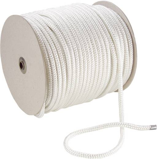 Polyesterdraad (Ø x l) 10 mm x 100 m 20144 Wit