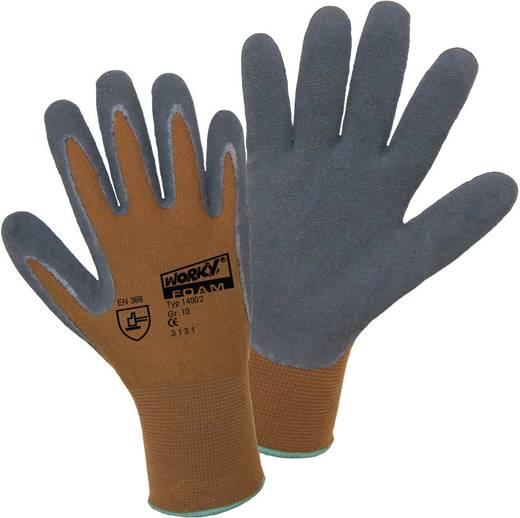 worky 14902 Nylon latex foam fijne gebreide handschoen 100% polyamide met geschuimde latexlaag Maat (handschoen): 9, L