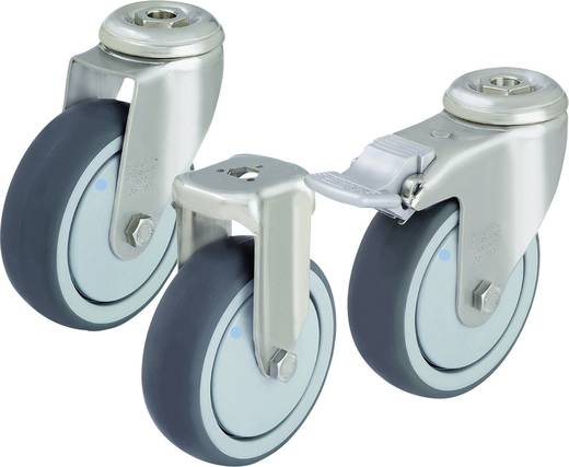 Blickle 574459 RVS apparaat-/bokrol met boutgat, Ø 100 mm, kogellagers Uitvoering (algemeen) Bokrol - kogellagers
